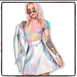 Current Mood Holographic skirt 0078